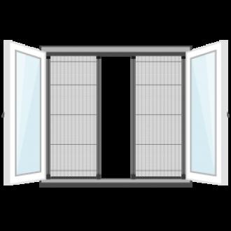 Openslaande deur plisse hordeur